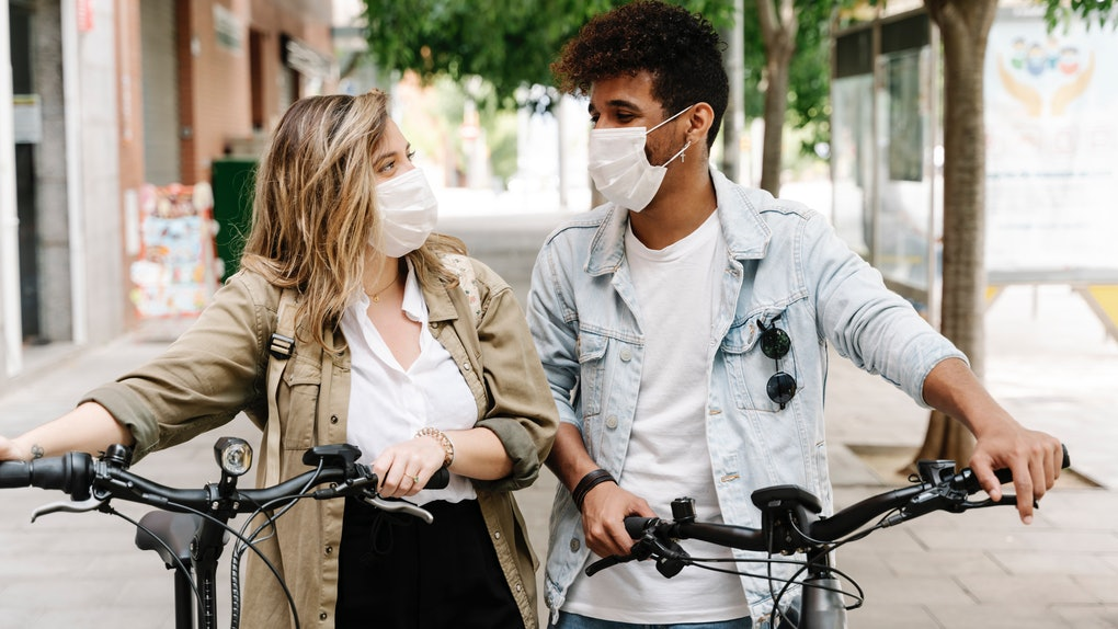 These Instagram captions for photos with your partner in masks are bound to get some likes.