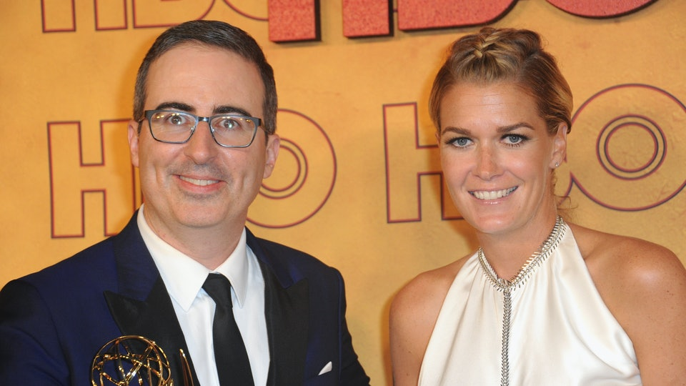 John Oliver thanked his wife during his Emmys acceptance speech