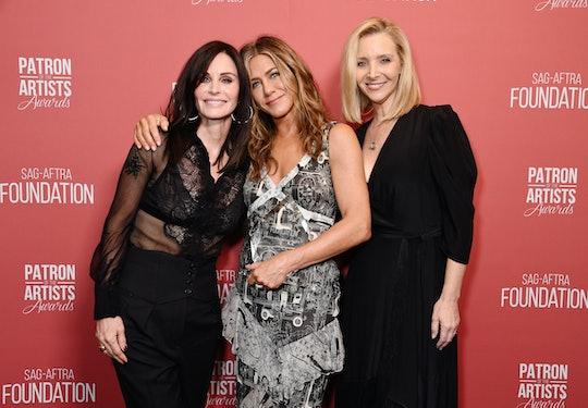 Jennifer Aniston had a mini 'Friends' reunion at the Emmys