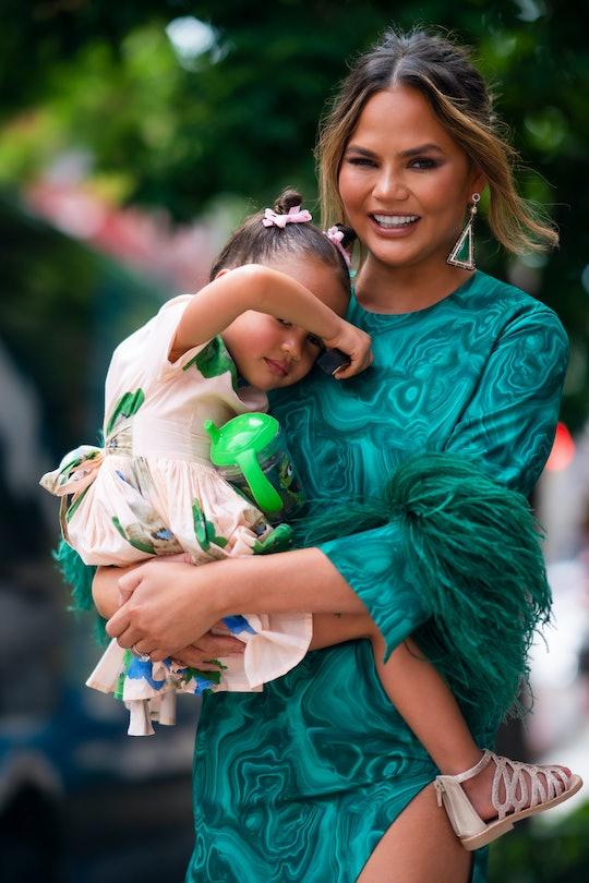 Chrissy Teigen's daughter Luna tricked her at bedtime.