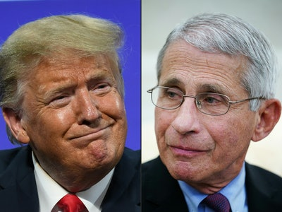 National Institute of Allergy and Infectious Diseases Director Dr. Anthony Fauci has pushed back on President Donald Trump's false COVID-19 claim about young people.