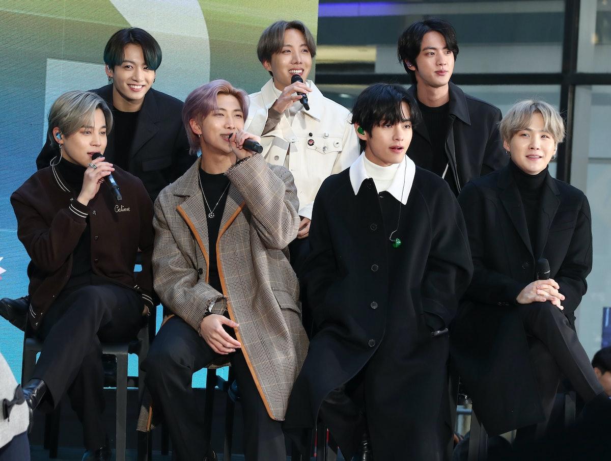 BTS attend a live interview.