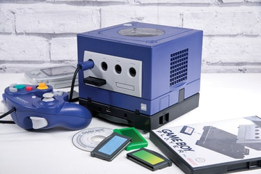 A photo of the GameCube.