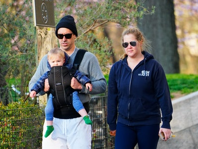 "Amy Schumer's son Gene is saying ""mom."""