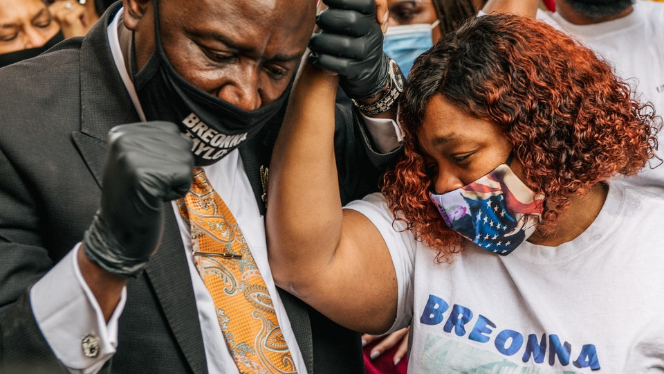 """Breonna Taylor's family lawyer deemed the grand jury's recent decision to indict only one officer on charges of wanton endangerment for bullets fired into a neighbor's apartment as """"insulting and offensive"""" to Taylor and her family."""