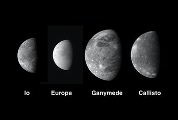 The four Galilean moons