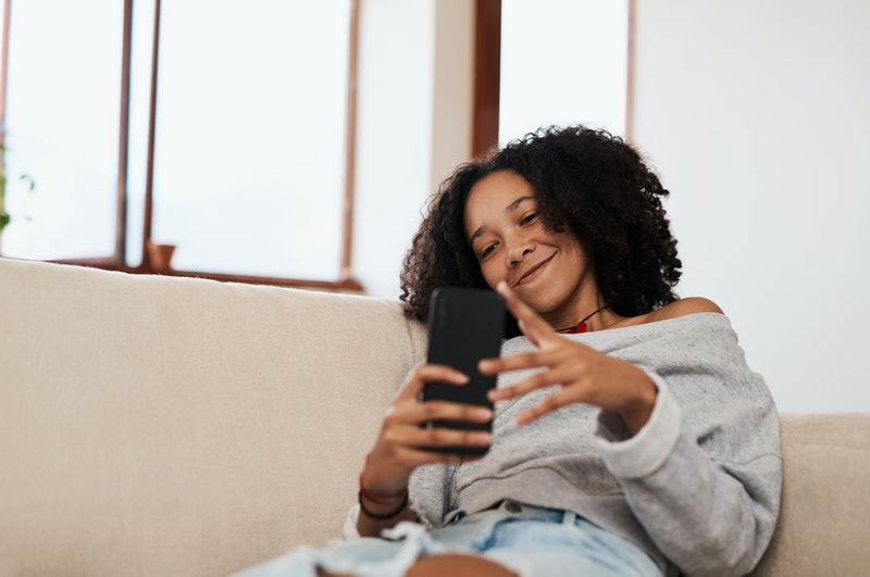 After a great first date, send a text right away to show your interest in meeting up again.