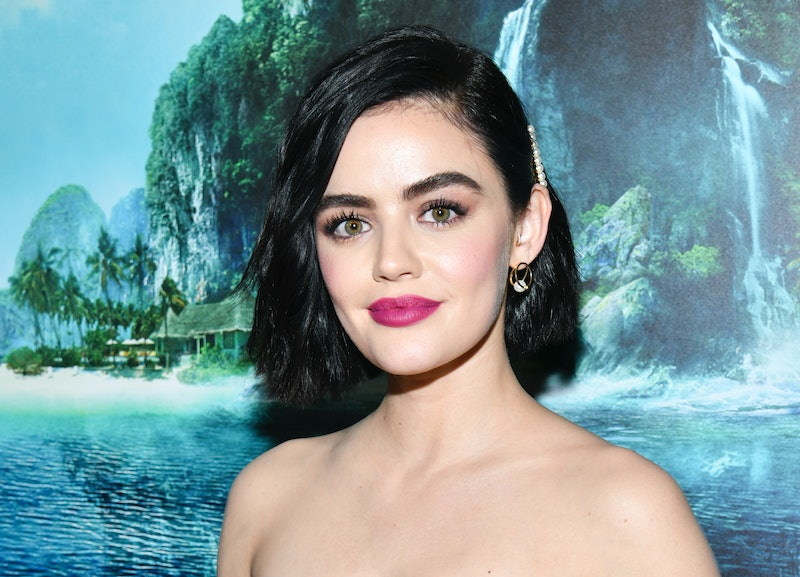 Lucy Hale just debuted red hair for fall 2020.