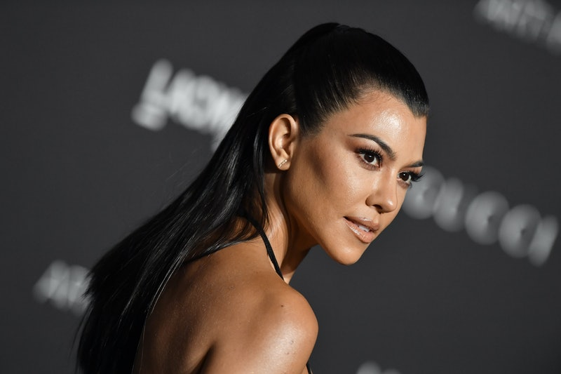 Kourtney Kardashian's nails have recently received a French manicure with a black twist.