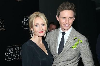 Eddie Redmayne and JK Rowling