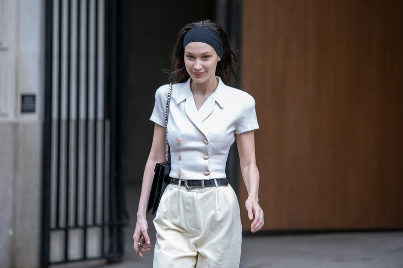 Bella Hadid demonstrates how to style a gym headband the 2020 way