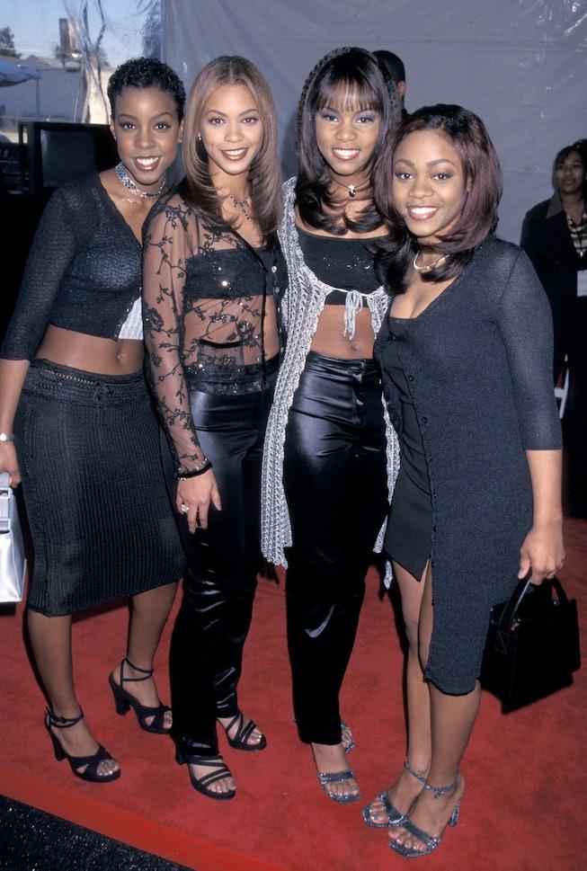 Beyoncé with Destiny's Child at the 1998 Soul Train Awards