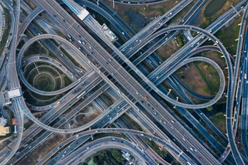 California's infamous highways seen from above