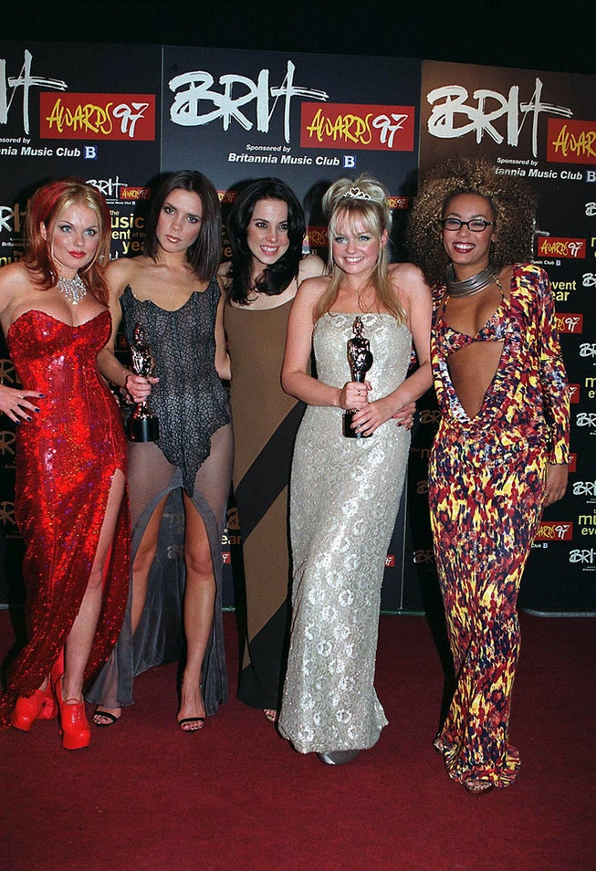 Spice Girls at the 1997 BRIT Awards.