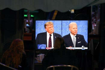 The two candidates focused briefly on climate change.