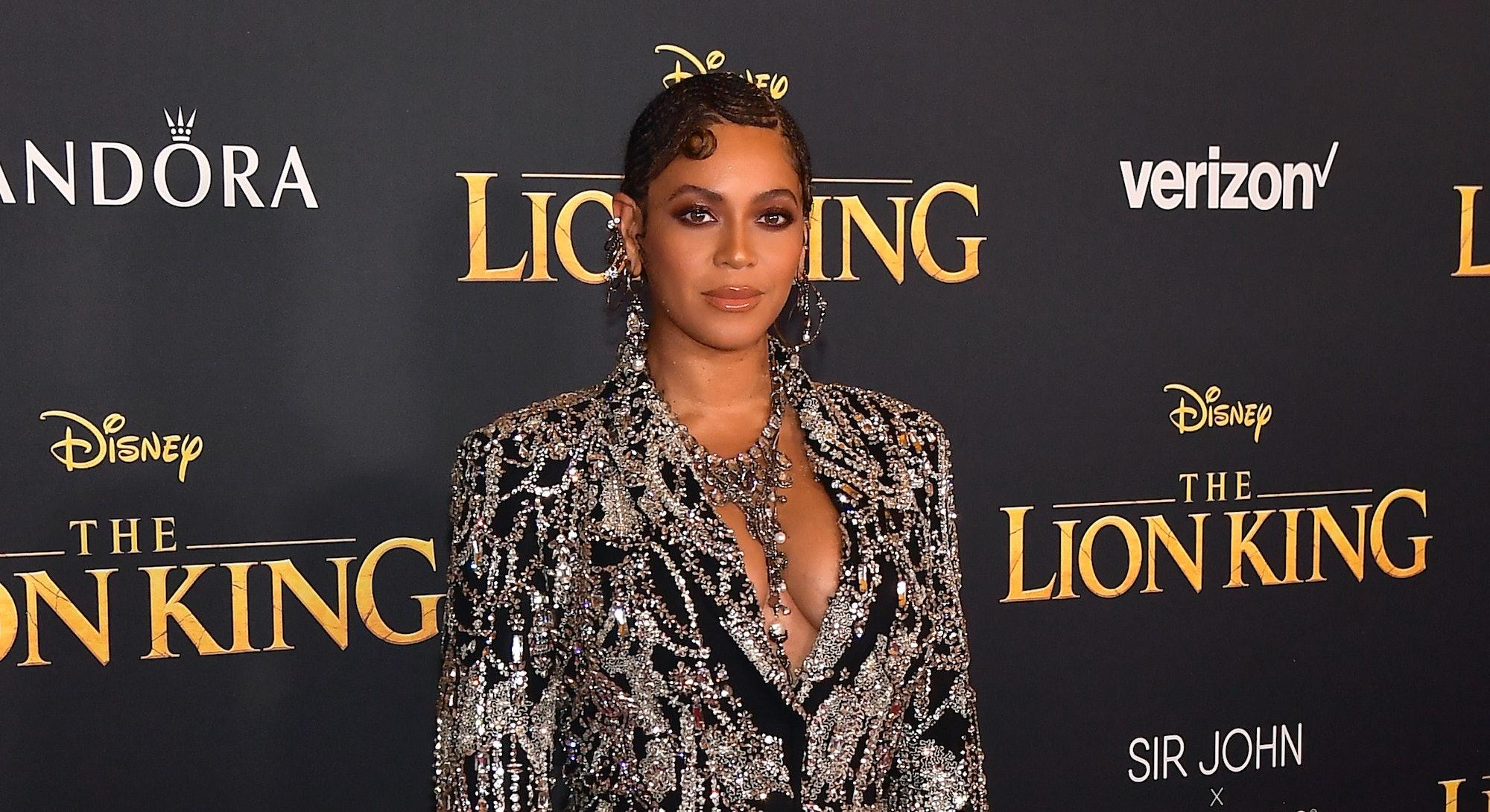 Beyoncé at the 2019 premiere of The Lion King.