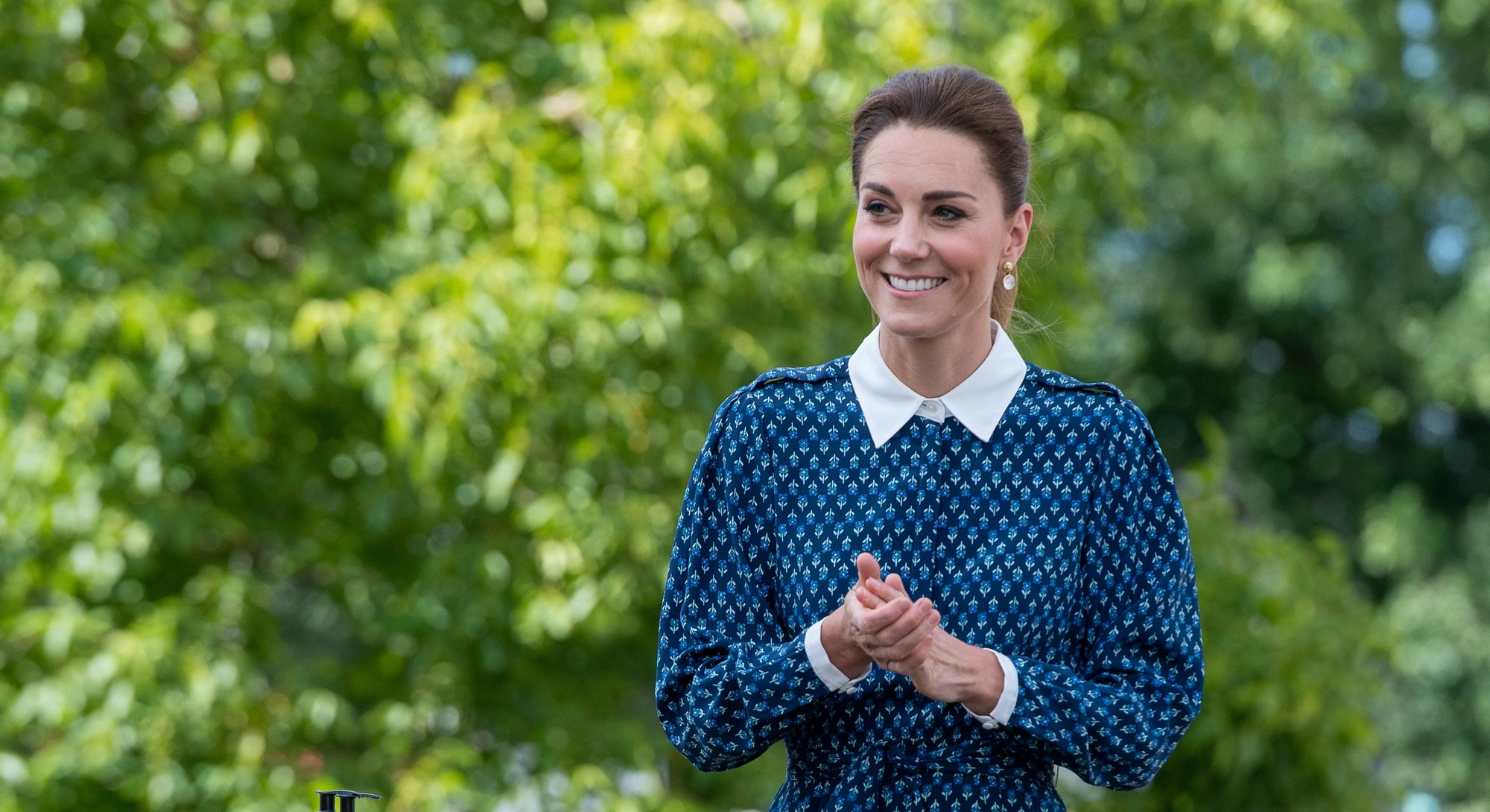 Kate Middleton posing at an event