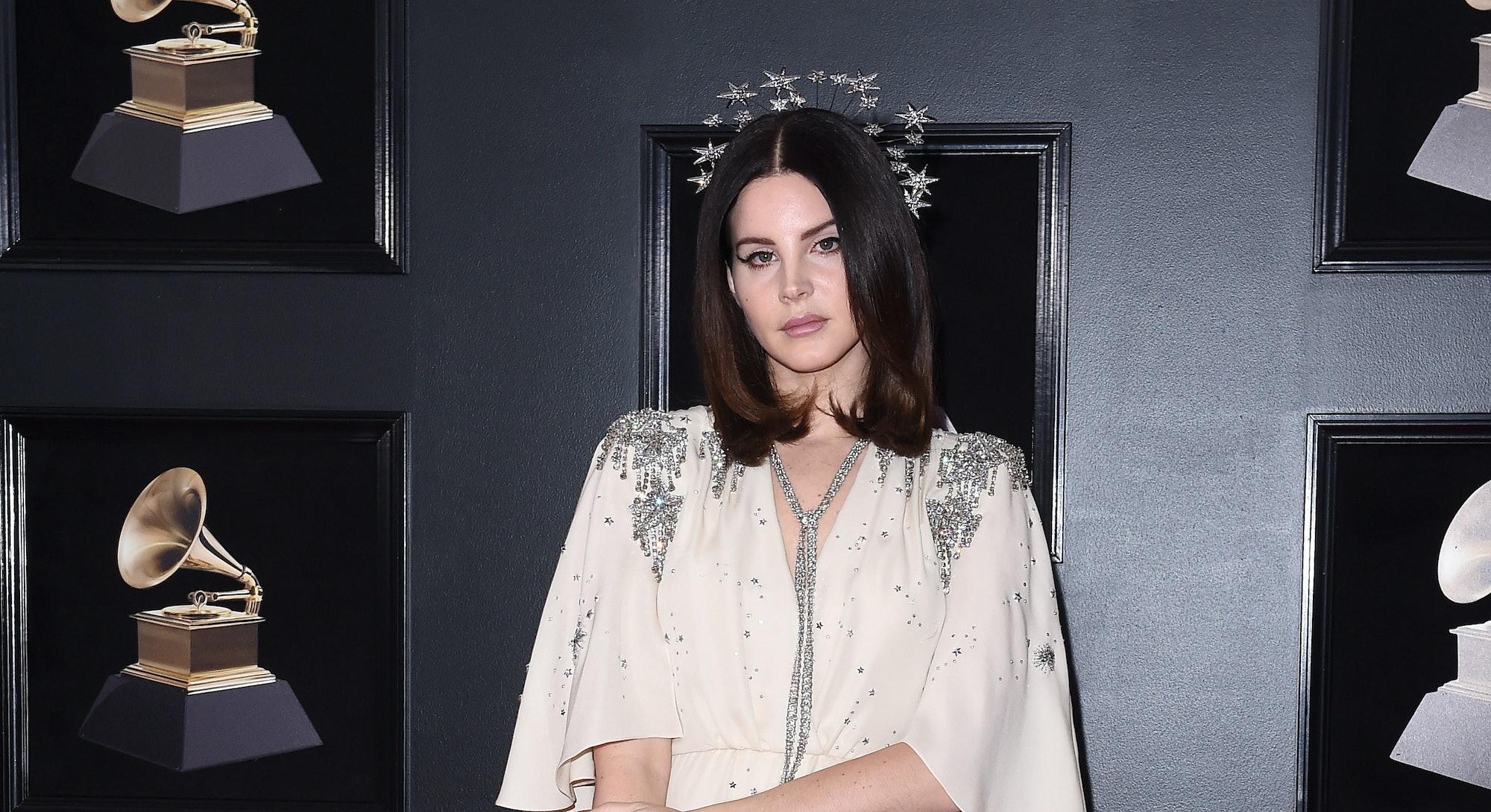 Lana Del Rey at the 2018 Grammys.