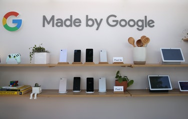 """A display of Google products labeled """"Made by Google."""""""