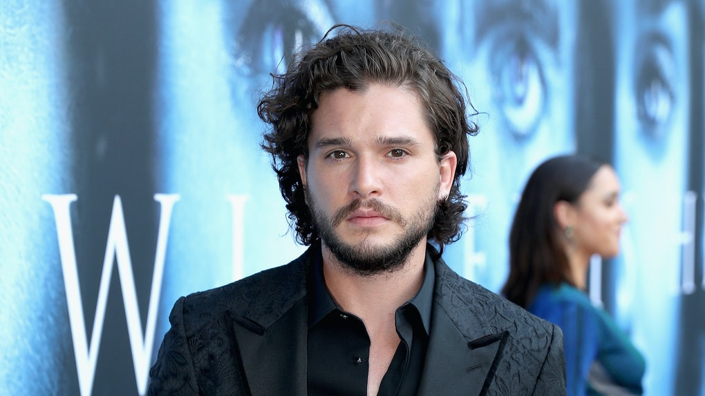 Kit Harington attends the 'Game of Thrones' premiere.