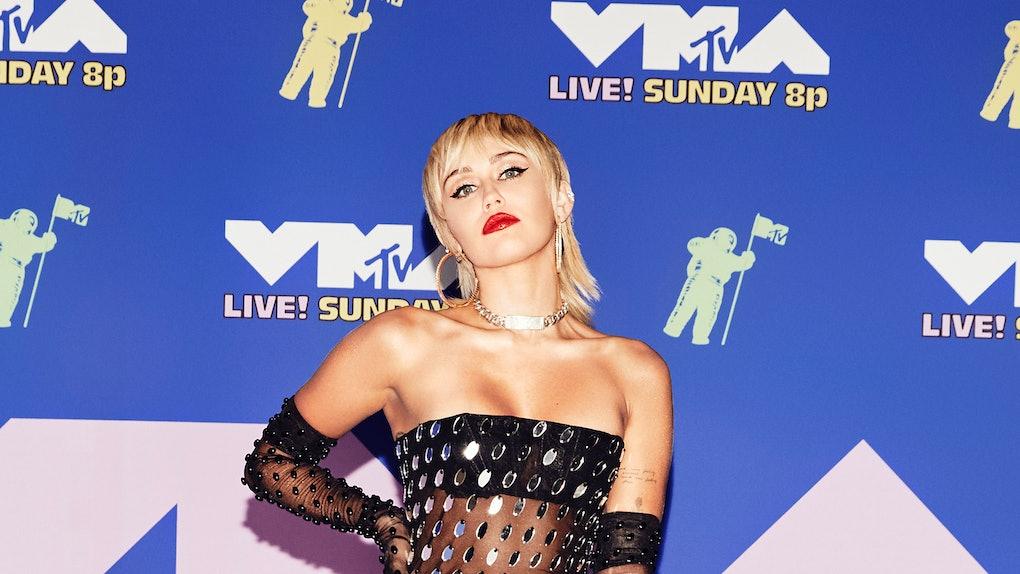 Miley Cyrus attends the 2020 VMAs.