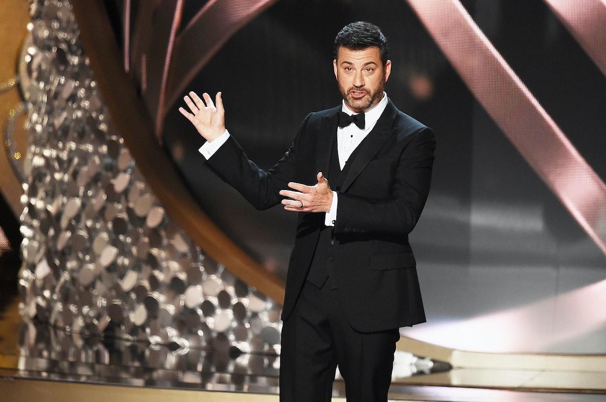 Jimmy Kimmel hosting the Emmys
