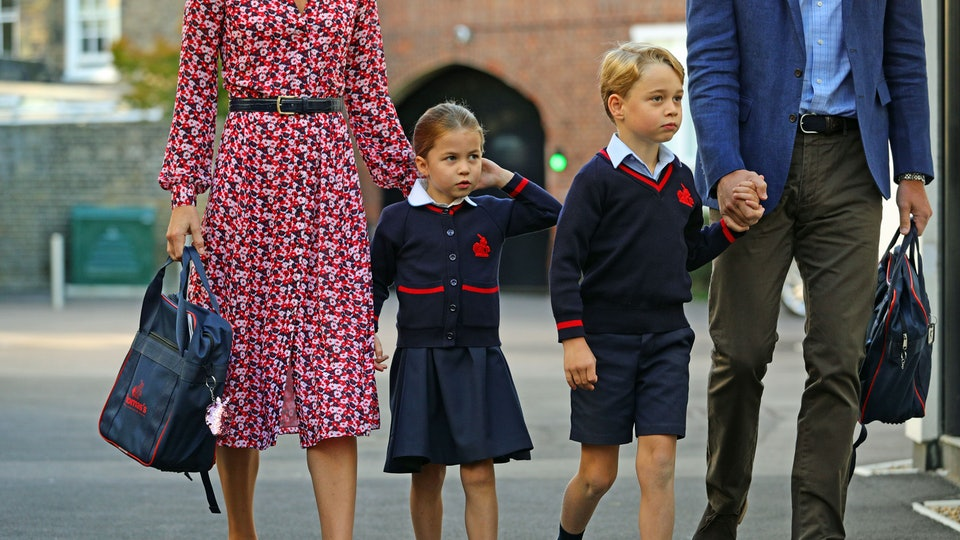Prince William is relieved to see his older two kids go back to school.