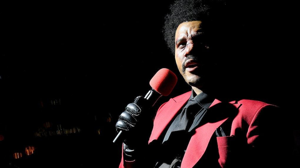 The Weeknd at the 2020 VMAs.