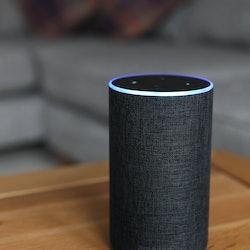 An Amazon Echo. How to create a morning routine with amazon alexa.