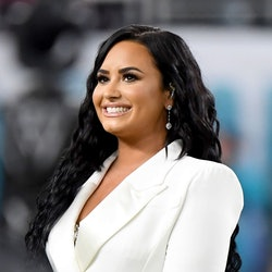 Demi Lovato's pink pixie hair is a new look for the star.