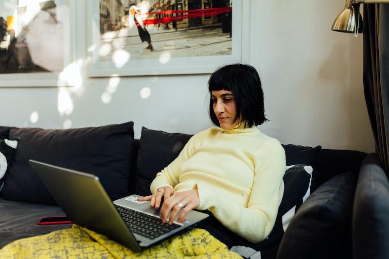 working, writing, typing