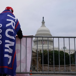 A supporter of President Donald Trump on Jan. 6