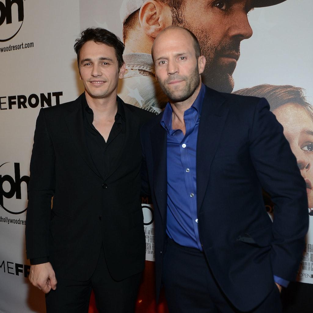 Actors James Franco and Jason Statham.