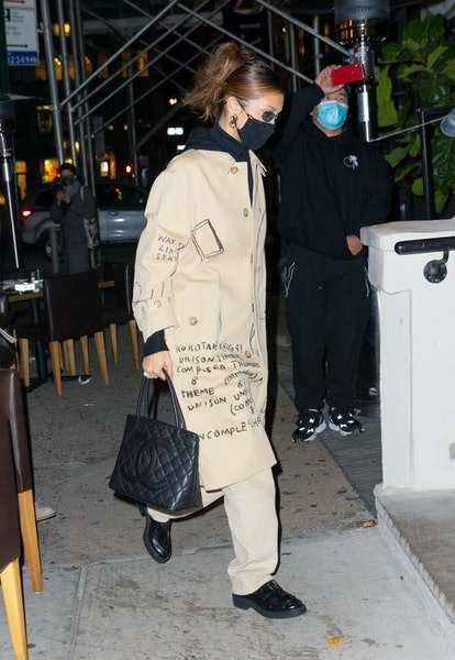 Bella Hadid carrying a Chanel bag while out in New York City.