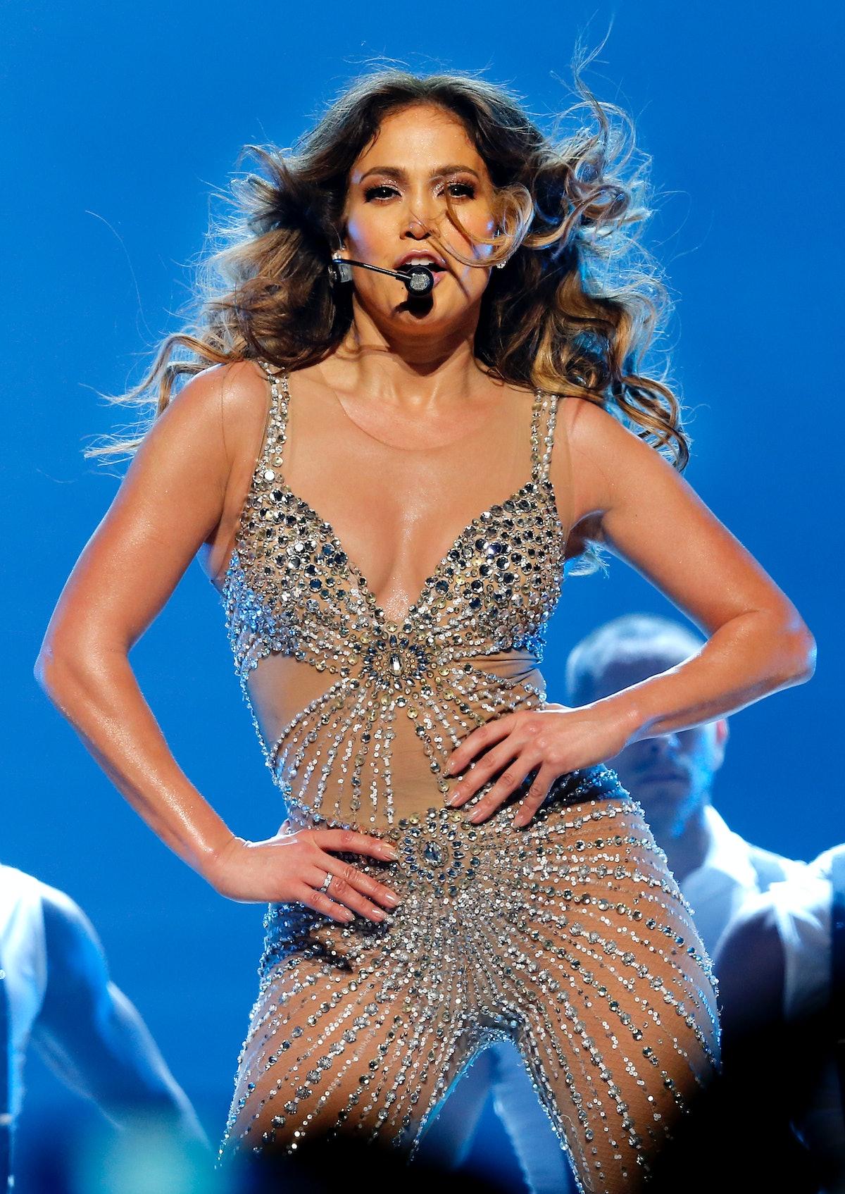 Jennifer Lopez performs live.