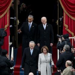 Barack Obama and Joe Biden at the former's inauguration