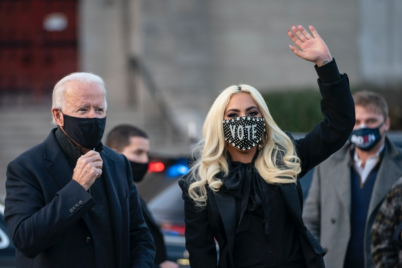 Joe Biden and Kamala Harris' 2021 inauguration. Photo via Getty Images