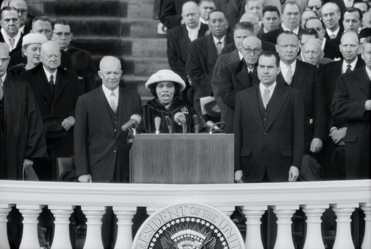 Marian Anderson at Dwight D. Eisenhower's inauguration. Photo via Getty Images