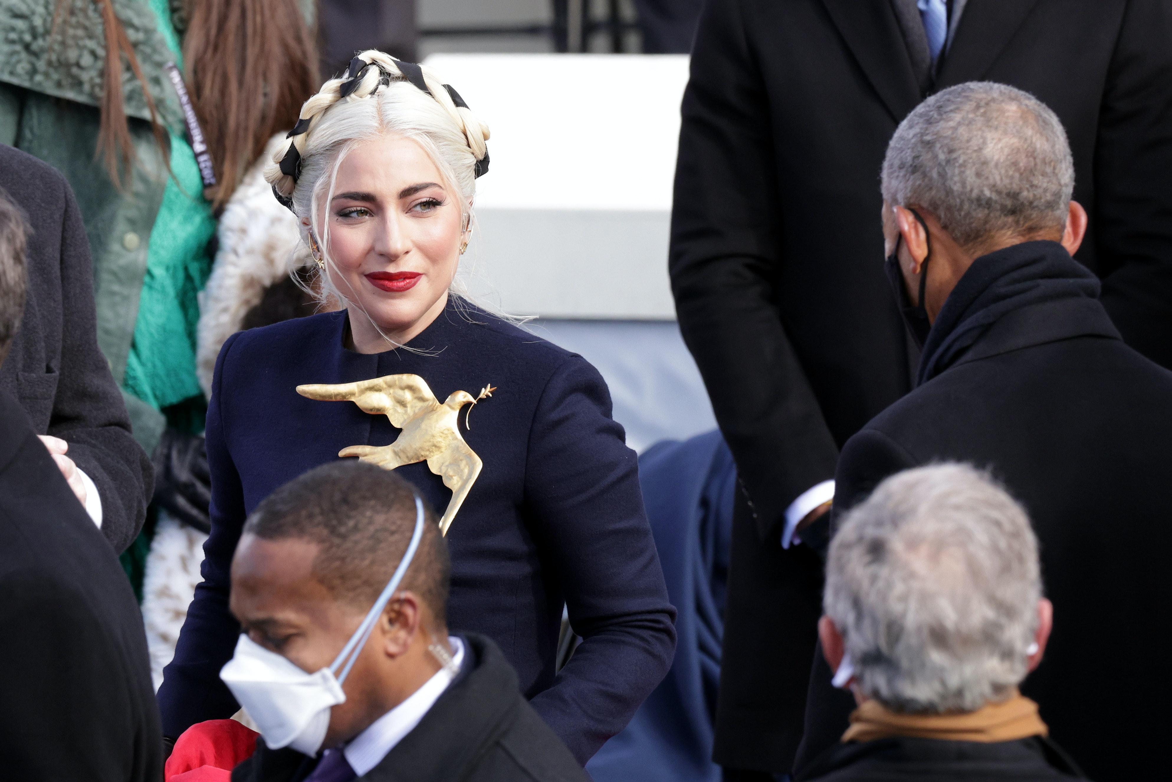 Inauguration Gaga Peace Dove Brooch