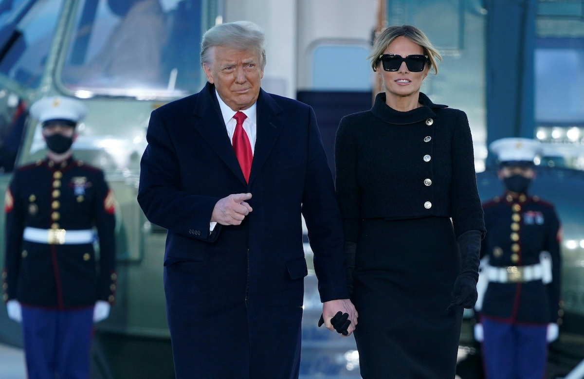 Donald Trump left the White House before the inauguration on Wednesday, Jan. 20, marking a break in a longstanding tradition.