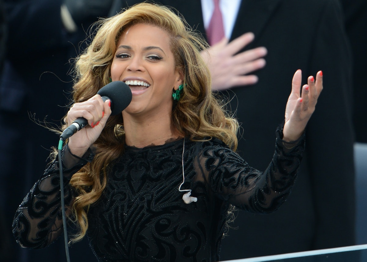 Beyonce at inauguration. Photo via Getty Images