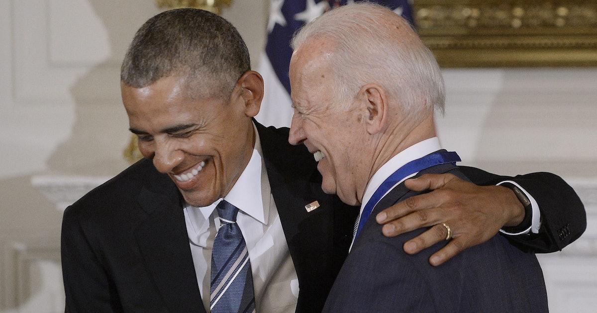 Joe Biden & Barack Obama's Fist Bump At The 2021 ...
