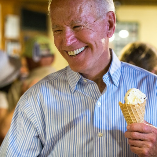 The artisan ice cream company Jeni's has released a special flavor in honor of President Joe Biden.