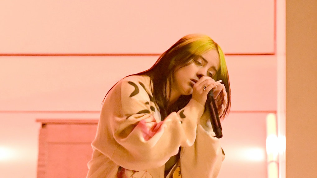 Billie Eilish performs at the AMAs.