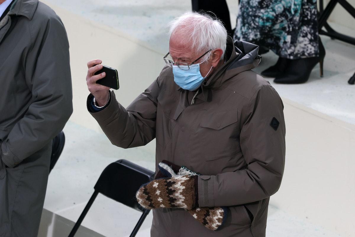 This Bernie inauguration meme Instagram filter is way too good.