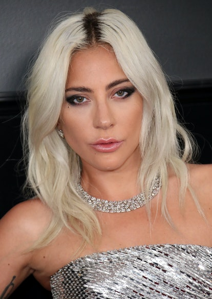 Lady Gaga's platinum hair at the Grammy's is one of the ways the trending shade can be worn.