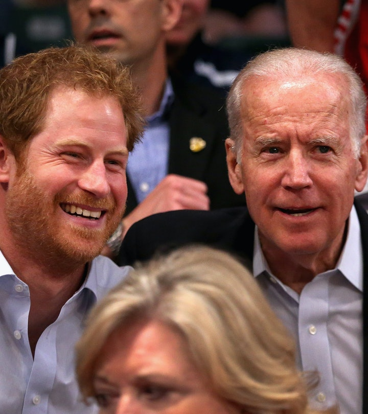 Prince Harry made a surprise appearance at Biden's inauguration.