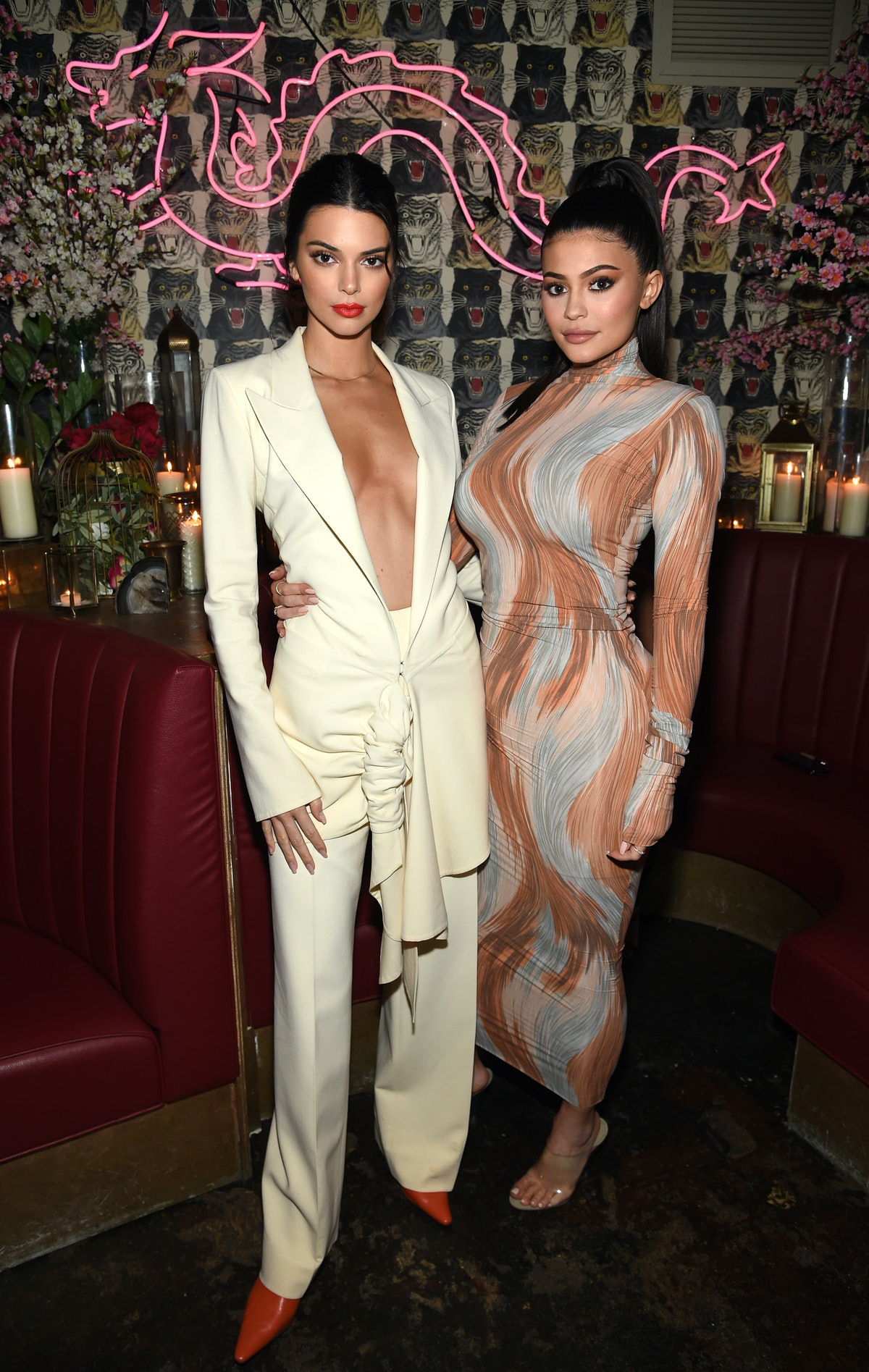Kendall and Kylie Jenner pose for a photo.