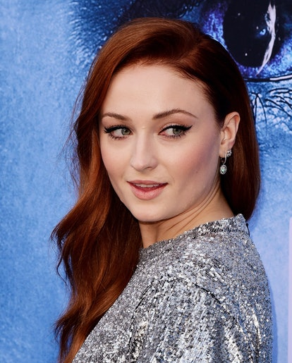 Sophie Turner's red is an on-trend rouge hue.