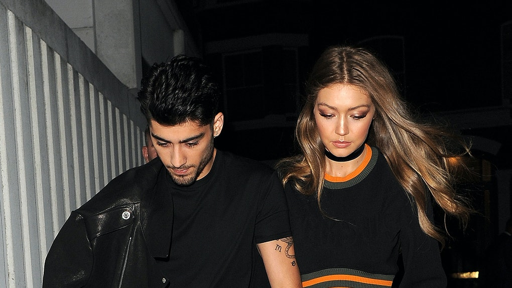 Zayn Malik and Gigi Hadid step out hand in hand.